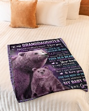 """I BELIEVE IN YOU - GREAT GIFT FOR GRANDDAUGHTER Small Fleece Blanket - 30"""" x 40"""" aos-coral-fleece-blanket-30x40-lifestyle-front-01"""