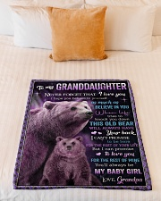 """I BELIEVE IN YOU - GREAT GIFT FOR GRANDDAUGHTER Small Fleece Blanket - 30"""" x 40"""" aos-coral-fleece-blanket-30x40-lifestyle-front-04"""