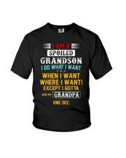 I DO WHAT I WANT - TO GRANDSON FROM GRANDPA Youth T-Shirt front