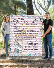 """I'LL STAY THERE - GRANDDAUGHTER GIFT WITH ELEPHANT Quilt 50""""x60"""" - Throw aos-quilt-50x60-lifestyle-front-04"""