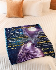 """BELIEVE IN YOURSELF - BEST GIFT FOR GRANDDAUGHTER Small Fleece Blanket - 30"""" x 40"""" aos-coral-fleece-blanket-30x40-lifestyle-front-01"""