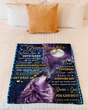 """BELIEVE IN YOURSELF - BEST GIFT FOR GRANDDAUGHTER Small Fleece Blanket - 30"""" x 40"""" aos-coral-fleece-blanket-30x40-lifestyle-front-04"""