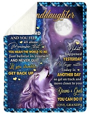 """BELIEVE IN YOURSELF - BEST GIFT FOR GRANDDAUGHTER Large Sherpa Fleece Blanket - 60"""" x 80"""" thumbnail"""