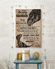 WE LOVE YOU - SPECIAL GIFT FOR GRANDSON 11x17 Poster lifestyle-holiday-poster-3