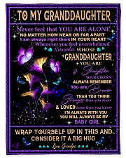 """CONSIDER IT A BIG HUG - GIFT FOR GRANDDAUGHTER Small Fleece Blanket - 30"""" x 40"""" front"""