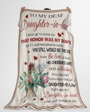 """YOU'RE MORE THAN JUST A DAUGHTER-IN-LAW Large Fleece Blanket - 60"""" x 80"""" aos-coral-fleece-blanket-60x80-lifestyle-front-10"""