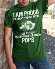 NOTHING BEATS BEING A POPS Classic T-Shirt apparel-classic-tshirt-lifestyle-27
