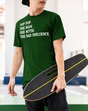 POP POP - THE MAN - THE MYTH - THE BAD INFLUENCE Classic T-Shirt apparel-classic-tshirt-lifestyle-front-66