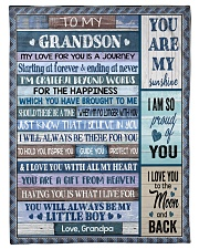 """I LOVE YOU TO THE MOON AND BACK Small Fleece Blanket - 30"""" x 40"""" front"""