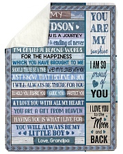 """I LOVE YOU TO THE MOON AND BACK Large Sherpa Fleece Blanket - 60"""" x 80"""" thumbnail"""