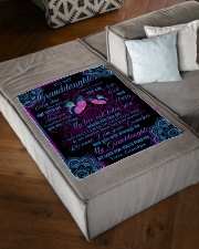 """MY LOVE WILL FOLLOW YOU Small Fleece Blanket - 30"""" x 40"""" aos-coral-fleece-blanket-30x40-lifestyle-front-03"""