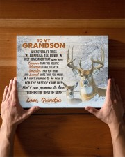 THE REST OF YOUR LIFE - BEST GIFT FOR GRANDSON 14x11 Gallery Wrapped Canvas Prints aos-canvas-pgw-14x11-lifestyle-front-27