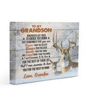 THE REST OF YOUR LIFE - BEST GIFT FOR GRANDSON 14x11 Gallery Wrapped Canvas Prints front