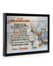 THE REST OF YOUR LIFE - BEST GIFT FOR GRANDSON 14x11 Black Floating Framed Canvas Prints thumbnail