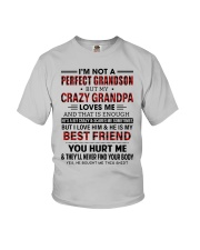 CRAZY GRANDPA LOVES ME - GIFT FOR GRANDSON Youth T-Shirt front