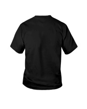 HE MAKES STUFF UP REALLY FAST Youth T-Shirt back