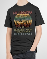HE MAKES STUFF UP REALLY FAST Youth T-Shirt garment-youth-tshirt-front-lifestyle-01