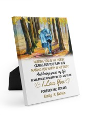LOVING YOU IS MY LIFE - LOVELY GIFT FOR WIFE 8x10 Easel-Back Gallery Wrapped Canvas thumbnail