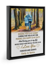 LOVING YOU IS MY LIFE - LOVELY GIFT FOR WIFE 11x14 Black Floating Framed Canvas Prints thumbnail