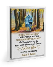 LOVING YOU IS MY LIFE - LOVELY GIFT FOR WIFE 11x14 White Floating Framed Canvas Prints thumbnail