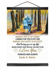LOVING YOU IS MY LIFE - LOVELY GIFT FOR WIFE 12x16 Black Hanging Canvas thumbnail