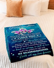 """I WANT YOU TO KNOW HOW VERY MUCH I LOVE YOU Small Fleece Blanket - 30"""" x 40"""" aos-coral-fleece-blanket-30x40-lifestyle-front-01"""