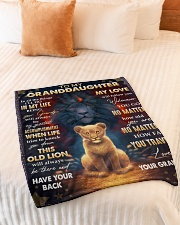 """LOVE WILL FOLLOW YOU - BEST GIFT FOR GRANDDAUGHTER Small Fleece Blanket - 30"""" x 40"""" aos-coral-fleece-blanket-30x40-lifestyle-front-01"""