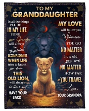 """LOVE WILL FOLLOW YOU - BEST GIFT FOR GRANDDAUGHTER Small Fleece Blanket - 30"""" x 40"""" front"""