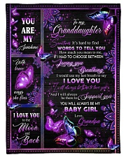 """I LOVE YOU - SPECIAL GIFT FOR GRANDAUGHTER Small Fleece Blanket - 30"""" x 40"""" front"""