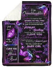 """I LOVE YOU - SPECIAL GIFT FOR GRANDAUGHTER Large Sherpa Fleece Blanket - 60"""" x 80"""" thumbnail"""