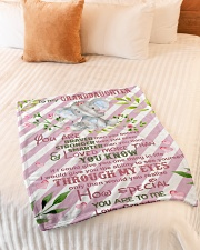 """HOW SPECIAL YOU ARE TO ME Small Fleece Blanket - 30"""" x 40"""" aos-coral-fleece-blanket-30x40-lifestyle-front-01"""