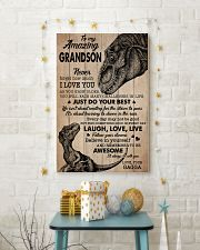 JUST DO YOUR BEST - AMAZING GIFT FOR GRANDSON 11x17 Poster lifestyle-holiday-poster-3