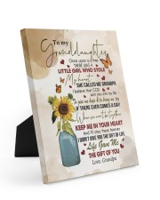 KEEP ME IN YOUR HEART - GRANDPA TO GRANDDAUGHTER 8x10 Easel-Back Gallery Wrapped Canvas thumbnail