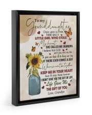 KEEP ME IN YOUR HEART - GRANDPA TO GRANDDAUGHTER 11x14 Black Floating Framed Canvas Prints thumbnail