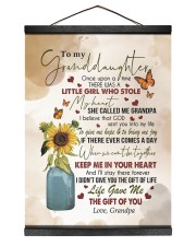 KEEP ME IN YOUR HEART - GRANDPA TO GRANDDAUGHTER 12x16 Black Hanging Canvas thumbnail