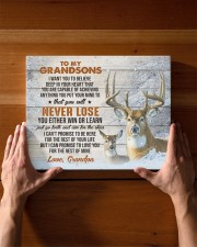 YOU WILL NEVER LOSE - GRANDPA TO GRANDSONS 14x11 Gallery Wrapped Canvas Prints aos-canvas-pgw-14x11-lifestyle-front-27