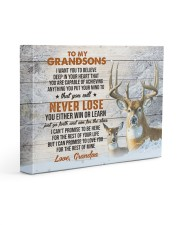 YOU WILL NEVER LOSE - GRANDPA TO GRANDSONS 14x11 Gallery Wrapped Canvas Prints front