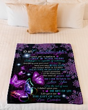 """THE GIFT OF YOU - GIFT FOR GRANDDAUGHTER  Small Fleece Blanket - 30"""" x 40"""" aos-coral-fleece-blanket-30x40-lifestyle-front-04"""