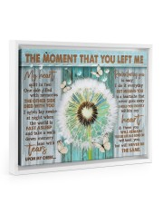 THE MOMENT THAT YOU LEFT ME 14x11 White Floating Framed Canvas Prints thumbnail