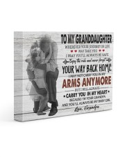 YOUR WAY BACK HOME-AMAZING GIFT FOR GRANDDAUGHTER 14x11 Gallery Wrapped Canvas Prints front