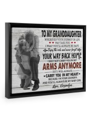 YOUR WAY BACK HOME-AMAZING GIFT FOR GRANDDAUGHTER 14x11 Black Floating Framed Canvas Prints thumbnail