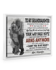 YOUR WAY BACK HOME-AMAZING GIFT FOR GRANDDAUGHTER 14x11 White Floating Framed Canvas Prints thumbnail