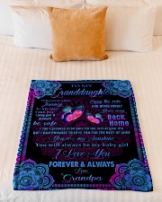 """I LOVE YOU FOREVER AND ALWAYS Small Fleece Blanket - 30"""" x 40"""" aos-coral-fleece-blanket-30x40-lifestyle-front-04"""