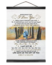 YOUR FIRST KISS - LOVELY GIFT FOR WIFE 12x16 Black Hanging Canvas thumbnail
