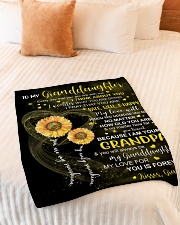 """I THINK ABOUT YOU - GRANDPA TO GRANDDAUGHTER Small Fleece Blanket - 30"""" x 40"""" aos-coral-fleece-blanket-30x40-lifestyle-front-01"""
