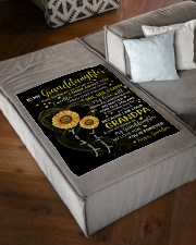 """I THINK ABOUT YOU - GRANDPA TO GRANDDAUGHTER Small Fleece Blanket - 30"""" x 40"""" aos-coral-fleece-blanket-30x40-lifestyle-front-03"""
