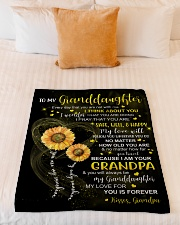 """I THINK ABOUT YOU - GRANDPA TO GRANDDAUGHTER Small Fleece Blanket - 30"""" x 40"""" aos-coral-fleece-blanket-30x40-lifestyle-front-04"""
