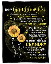 """I THINK ABOUT YOU - GRANDPA TO GRANDDAUGHTER Small Fleece Blanket - 30"""" x 40"""" front"""