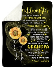 """I THINK ABOUT YOU - GRANDPA TO GRANDDAUGHTER Large Sherpa Fleece Blanket - 60"""" x 80"""" thumbnail"""