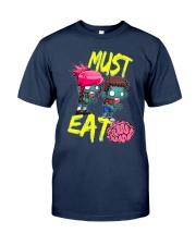 Must Eat Brains Zombies Classic T-Shirt thumbnail